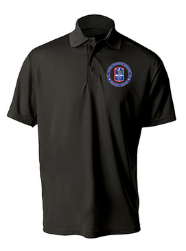 172nd Infantry Brigade Embroidered Moisture Wick Polo  Shirt-Proud