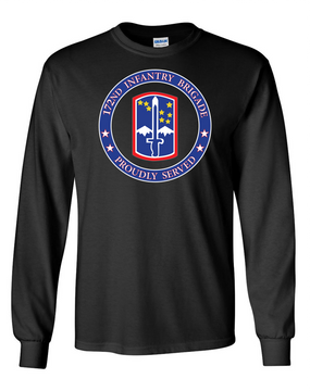 172nd Infantry Brigade Long-Sleeve Cotton T-Shirt-Proud  (FF)