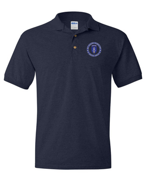 8th Infantry Division Airborne Embroidered Cotton Polo Shirt-Proud