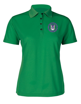Ladies 503rd Parachute Infantry Regiment  Embroidered Moisture Wick Polo Shirt-Proud