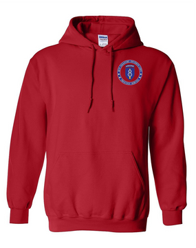 8th Infantry Division Airborne Embroidered Hooded Sweatshirt-Proud