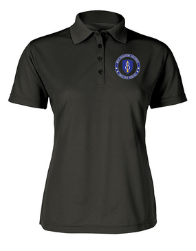 Ladies 8th Infantry Division Embroidered Moisture Wick Polo Shirt-Proud