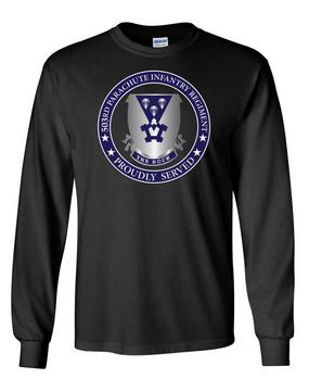 503rd Parachute Infantry Regiment Long-Sleeve Cotton T-Shirt -Proud  (FF)