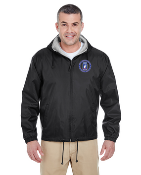 173rd Airborne Brigade Embroidered Fleece-Lined Hooded Jacket-Proudly