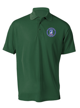 173rd Airborne Brigade Embroidered Moisture Wick Polo-Proudly