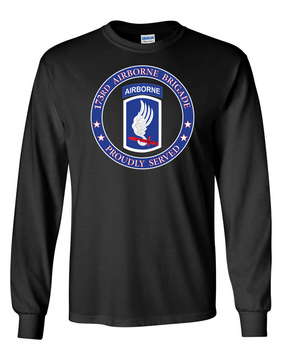 173rd Airborne Brigade Long-Sleeve Cotton T-Shirt-Proudly  (FF)