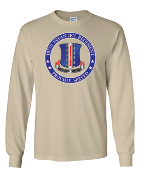 187th RCT  Long-Sleeve Cotton T-Shirt-Proudly  (FF)