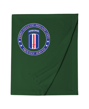 193rd Infantry Brigade (Airborne) Embroidered Dryblend Stadium Blanket-Proudly