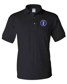 193rd Infantry Brigade (Airborne) Embroidered Cotton Polo Shirt-Proudly