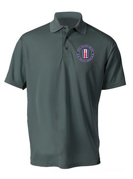 197th Infantry Brigade  Embroidered Moisture Wick Polo  Shirt-Proud
