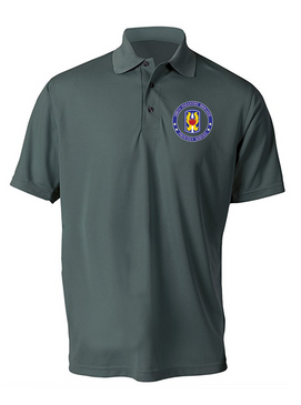 199th Light Infantry Brigade Embroidered Moisture Wick Polo  Shirt-Proud