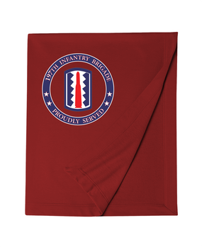 197th Infantry Brigade  Embroidered Dryblend Stadium Blanket-Proud