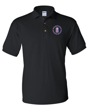 197th Infantry Brigade Embroidered Cotton Polo Shirt-Proud