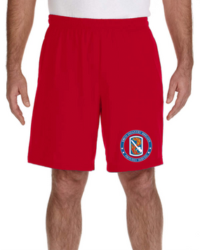 198th Infantry Brigade Embroidered Gym Shorts-Proud