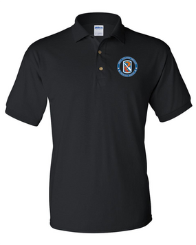 198th Light Infantry Brigade Embroidered Cotton Polo Shirt-Proud