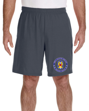 199th Infantry Brigade Embroidered Gym Shorts-Proud