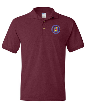 199th Light Infantry Brigade  Embroidered Cotton Polo Shirt-Proud