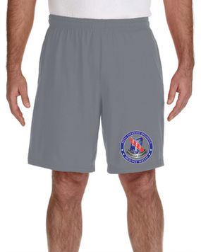 327th Infantry Regiment Embroidered Gym Shorts-Proud