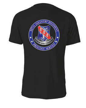 327th Infantry Regiment Cotton T-Shirt -Proud  (FF)
