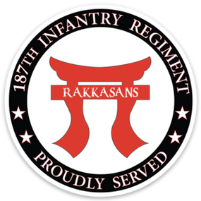 Rakkasans 187th RCT  Vinyl Cut Decal