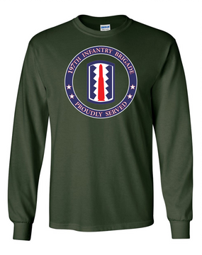 197th Infantry Brigade Long-Sleeve Cotton T-Shirt-Proud  (FF)