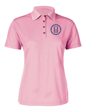 197th Infantry Brigade Ladies Embroidered Moisture Wick Polo Shirt-Proud