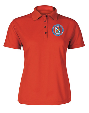 198th Light Infantry Brigade Ladies Embroidered Moisture Wick Polo Shirt-Proud