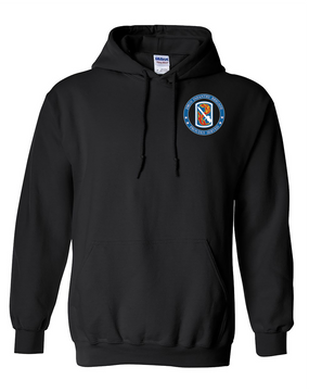 198th Light Infantry Brigade Embroidered Hooded Sweatshirt-Proud