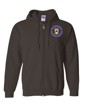 199th Light Infantry Brigade  Embroidered Hooded Sweatshirt with Zipper-Proud