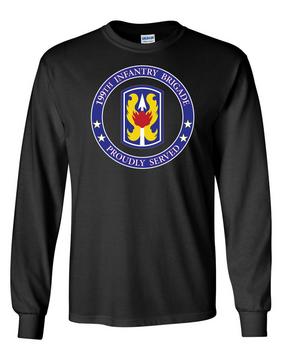 199th Light Infantry Brigade Long-Sleeve Cotton T-Shirt-Proud-FF
