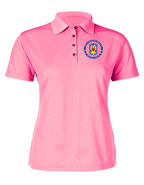199th Light Infantry Brigade  Ladies Embroidered Moisture Wick Polo Shirt-Proud