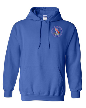 327th Infantry Regiment Embroidered Hooded Sweatshirt-Proud