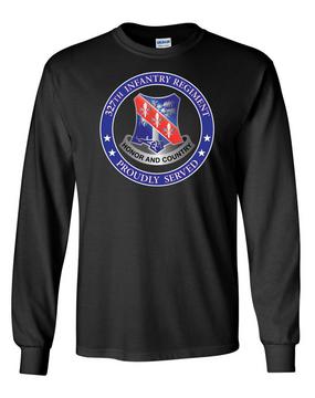 327th Infantry Regiment Long-Sleeve Cotton Shirt-Proud (FF)