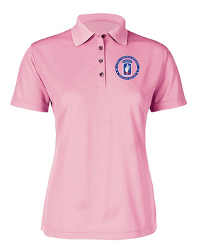 173rd Airborne Ladies Embroidered Moisture Wick Polo Shirt-Proud