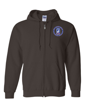 173rd Airborne Brigade  Embroidered Hooded Sweatshirt with Zipper