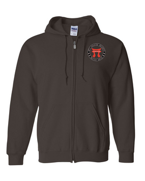 """187th RCT """"Torri""""  Embroidered Hooded Sweatshirt with Zipper-Proud"""