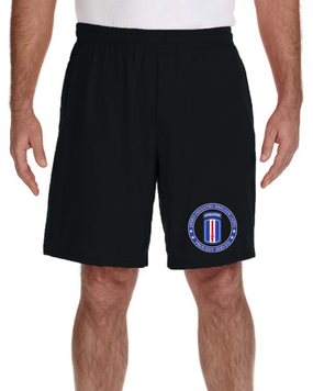 193rd Infantry Brigade (Airborne) Embroidered Gym Shorts-Proud