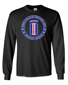 193rd Infantry Brigade (Airborne) Long-Sleeve Cotton T-Shirt-Proud (FF)