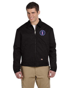 193rd Infantry Brigade (Airborne) Embroidered Dickies 8 oz. Lined Eisenhower Jacket -Proud