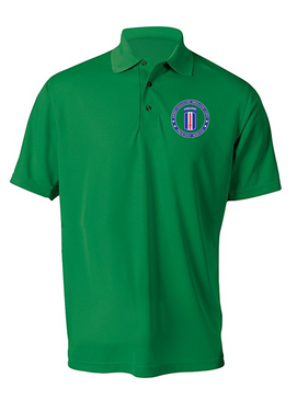 193rd Infantry Brigade (Airborne) Embroidered Moisture Wick Polo