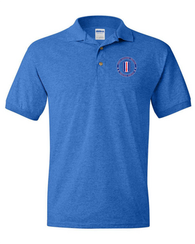 193rd Infantry Brigade  Embroidered Cotton Polo Shirt-Proud