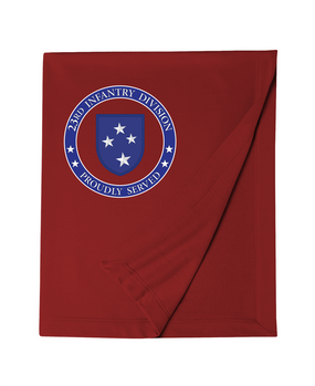 23rd Infantry Division Embroidered Dryblend Stadium Blanket-Proud