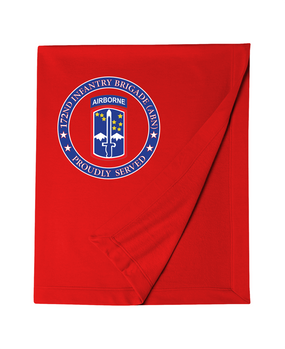 172nd Infantry Brigade (Airborne)  Embroidered Dryblend Stadium Blanket-Proud