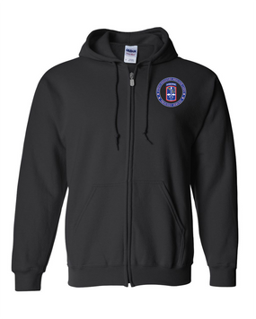 172nd Infantry Brigade (Airborne) Embroidered Hooded Sweatshirt with Zipper-Proud