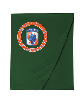35th Signal Brigade (Airborne) Embroidered Dryblend Stadium Blanket-Proud