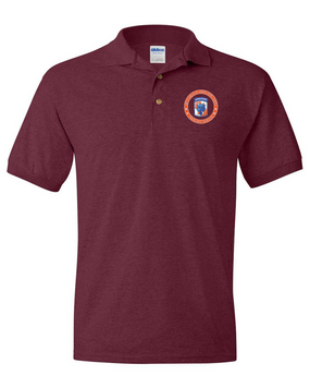 35th Signal Brigade (Airborne) Embroidered Cotton Polo Shirt-Proud