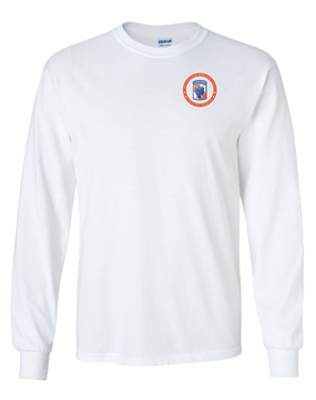 35th Signal Brigade (Airborne) Long-Sleeve Cotton T-Shirt-Proud