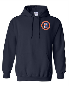 35th Signal Brigade (Airborne) Embroidered Hooded Sweatshirt-Proud