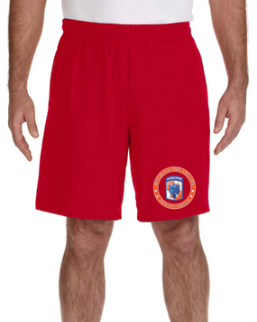 35th Signal Brigade (Airborne) Embroidered Gym Shorts-Proud