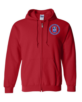 172nd Infantry Brigade  Embroidered Hooded Sweatshirt with Zipper-Proud